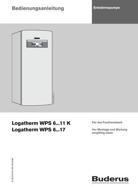Erich Kuhn Gmbh : bedienungsanleitung logatherm wps 6 11 k erich ~ A.2002-acura-tl-radio.info Haus und Dekorationen