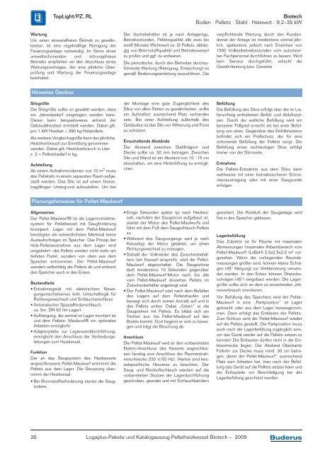 Logaplus-Pakete und Katalogauszug Pelletheizkessel ... - Buderus