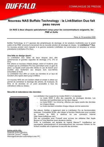 Nouveau NAS Buffalo Technology : la LinkStation Duo fait ... - Clipping
