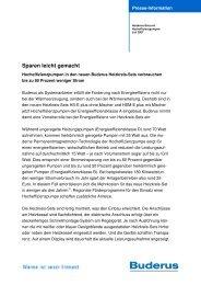 Sparen leicht gemacht - Bosch Thermotechnik GmbH