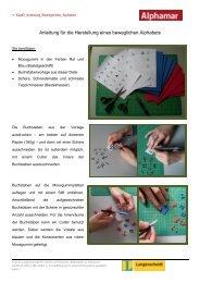 Anleitung zur Herstellung eines beweglichen Alphabets