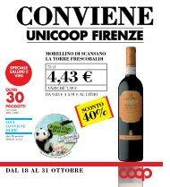 DAL 18 AL 31 OTTOBRE - Unicoop Firenze