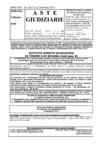 Bollettino Ufficiale delle ASTE GIUDIZIARIE - Asta Giudiziaria