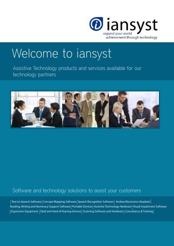 Download the iansyst New Partner brochure