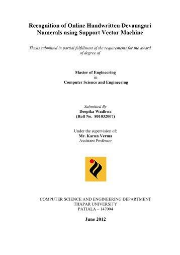 dspace thesis thapar
