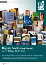 Digitale Zusatzprogramme via ASTRA 19,2° Ost