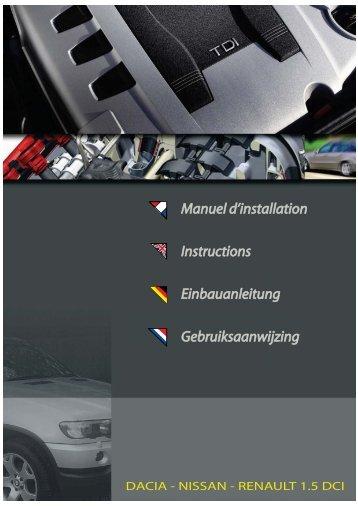Manuel Einbauanleitung Gebruiksaanwijzing Instructions