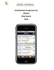 Karteikarten-Programm für iPhone iPod touch iPad - You 2 Software