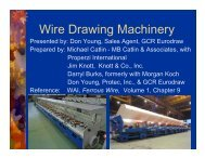 Wire Drawing Machinery - Knottco.com