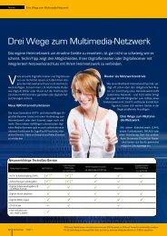 Drei Wege zum Multimedia-Netzwerk