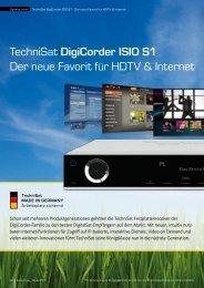 TechniSat DigiCorder ISIO S1 Der neue Favorit ... - Multimedia-Fabrik