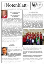 Infoblatt MKH V1 - Musikkapelle Hausleiten