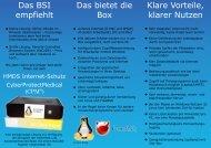 Das BSI empfiehlt Das bietet die Box Klare Vorteile, klarer ... - HMDS