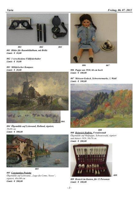 43. Auktion Auktionsvorschau