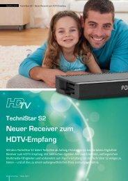 TechniStar S2 Neuer Receiver zum HDTV-Empfang