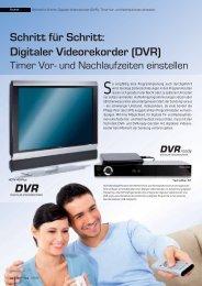 Schritt für Schritt: Digitaler Videorekorder (DVR)