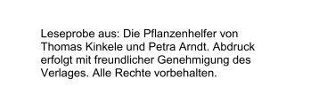 Die Pflanzenhelfer von Thomas Kinkele und Petra ... - PranaHaus