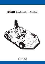 Betriebsanleitung Mini-Kart - Rimo