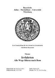 Irrfahrten - Alle Wege führen nach Rom - Institut für Mathematik ...