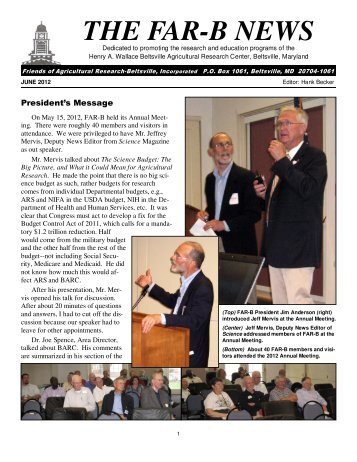 THE FAR-B NEWS - Friends of Agricultural Research - Beltsville