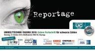 Umwelttechnik-tagUng 2010: grüner Fortschritt für schwarze Zahlen