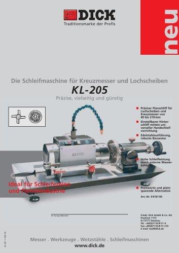 KL-205 dt. - Friedr. DICK
