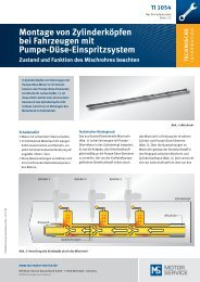 Montage von Zylinderköpfen bei Fahrzeugen mit Pumpe-Düse ...