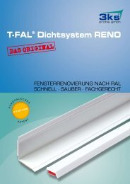 T-FAL® Dichtsystem RENO - 3ks profile gmbh