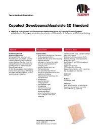 Capatect Gewebeanschlussleiste 3D Standard