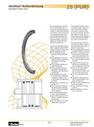 Ultrathan®-Kolbendichtung Z8 (PUR) - Parker Hannifin Corporation