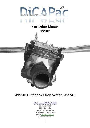 Instruction Manual 15187 WP-S10 Outdoor ... - Studioexpress
