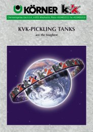 KVK-PICKLING TANKS are the toughest - Koerner