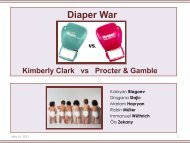 The Diaper War: Kimberly-Clark versus Procter & Gamble Index