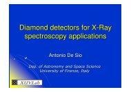 Diamond detectors for X-Ray spectroscopy applications
