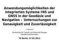 innere Genauigkeit Tightly coupled filtered - DVW Berlin-Brandenburg