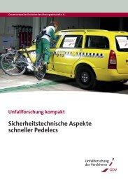 Sicherheitstechnische Aspekte schneller Pedelecs - Unfallforschung ...