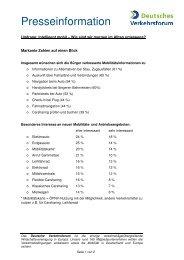 Markante Zahlen auf einen Blick - Deutsches Verkehrsforum