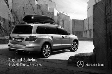 Original-Zubehör für die GL-Klasse. Preisliste. - Daimler