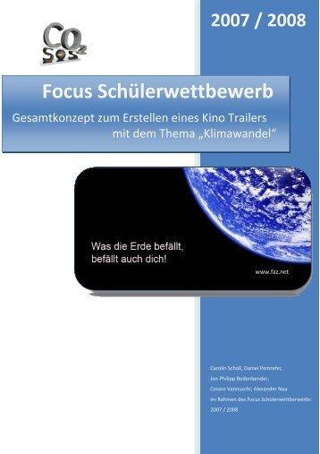 Focus Schülerwettbewerb