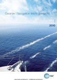Geonav: Navigation leicht gemacht - Busse-Yachtshop