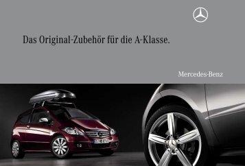 Das Original-Zubehör für die A-Klasse. - Mercedes