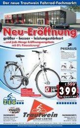 Der neue Trautwein Fahrrad-Fachmarkt: - Zweirad-Trautwein