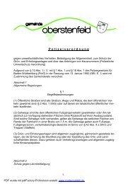 Polizeiverordnung - Gemeinde Oberstenfeld