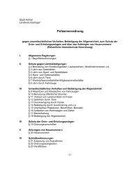 Polizeiverordnung - Aichtal