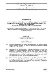 Gemeinde Kusterdingen - Landkreis Tübingen Sammlung des ...