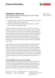 Presse-Information E-Mobilität im Mittelpunkt - Bosch
