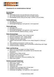 Checkliste Fahrrad PDF - Zweirad Schwarz