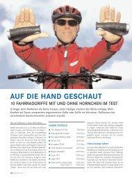 AUF DIE HAND GESCHAUT - Radtouren Magazin