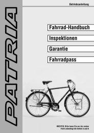 Fahrrad-Handbuch Inspektionen Garantie ... - Rad & Service