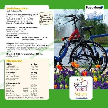 Fahrradverleih - Papenburg Tourismus